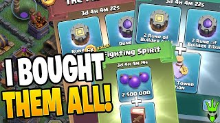 BUYING PACKS AND GOING ON A GEMMING SPREE...on the BUILDER HALL?! - Clash of Clans