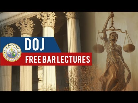 DOJ Free Bar Lectures 2018 - Day 1 | Afternoon Session