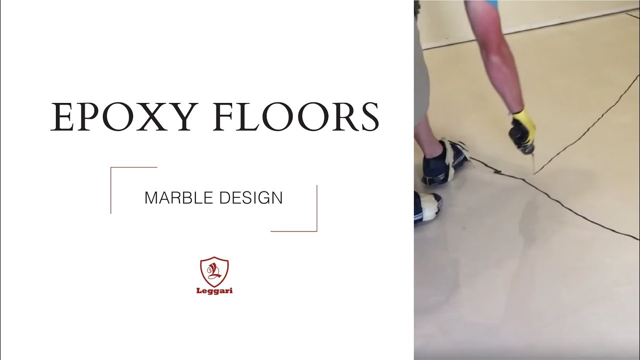 Marble floor in metallic epoxy - YouTube