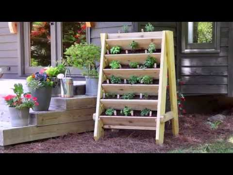 How to Build a Vertical Herb Planter