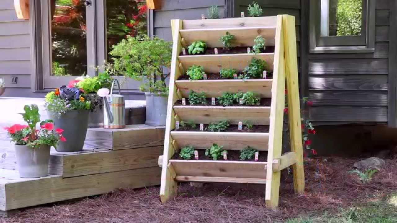 How to Build a Vertical Herb Planter - YouTube