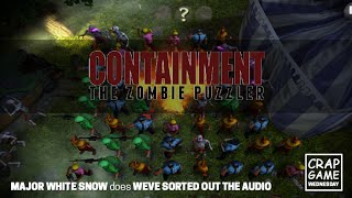 Crap Game Wednesday - Containment: The Zombie Puzzler