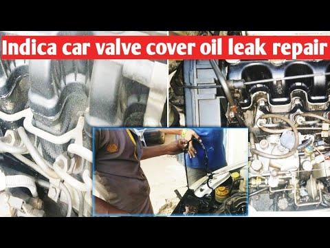 Indica car valve cover  oil leak repair and cleaning in tamil
