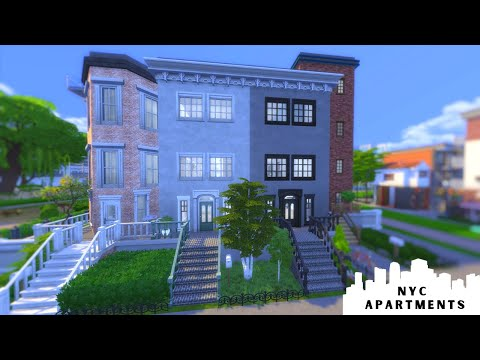 NEW YORK CITY APARTMENT BLOCK | The Sims 4 NYC Apartment Blo