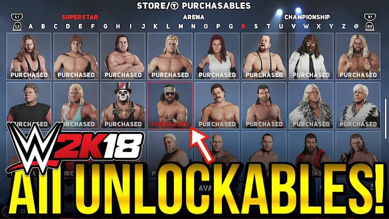 Trucos de WWE 2K18 - Desbloquear personajes y puntos VC