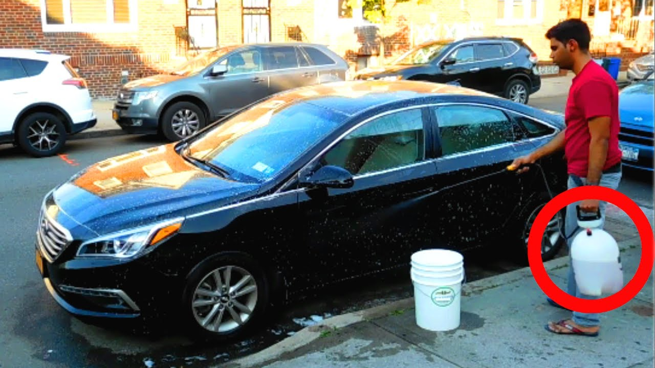 How To Wash Your Car Using A Garden Pump Sprayer In 10 Minutes Diy
