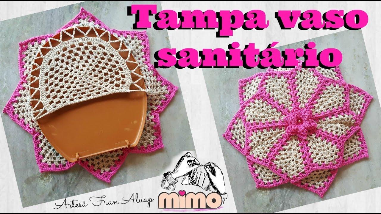 Jogo De Banheiro Classic Rosa Passo A Passo : Passo a tampa vaso sanit p?rola rosa croch?