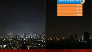 יירוט של כיפת ברזל מעל שמי גוש דן, חדשות השבת ערוץ 1