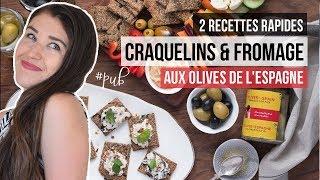 Idée snack santé végé : Craquelins & fromage aux Olives de l'Espagne   RECETTES MEAL PREP VÉGÉTARIEN