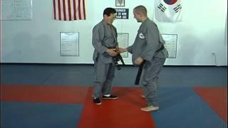 Hapkido Belt Grab Thumb Up Techniques 1 thru 3, Ji Han Jae