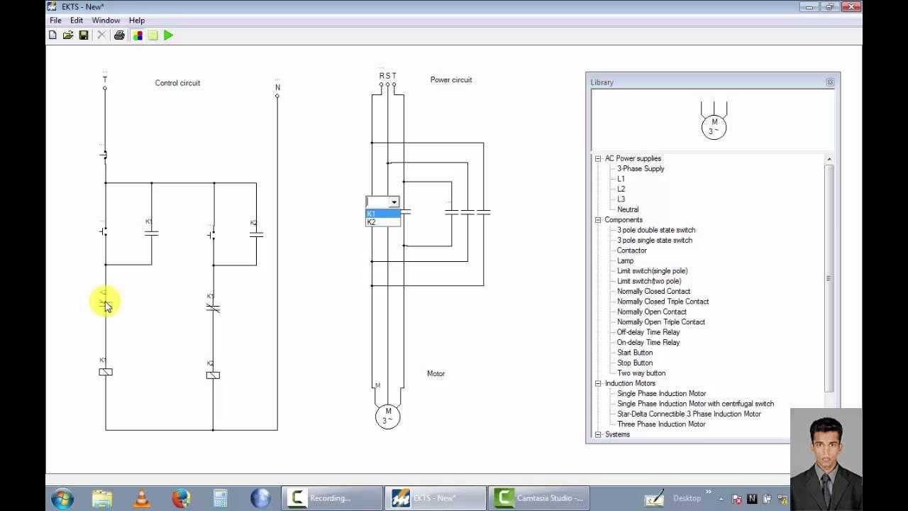 Three Phase Motor Control Forward Reverse Direction Circuit Diagram