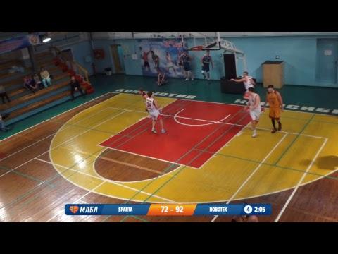 26.01.2019. НБА 1/8  Sparta  - Новотек