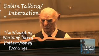 Goblins talking|Goblin Interaction at Money Exchange|At The Wizarding World of Harry Potter,Florida