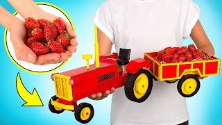 DIY Traktor Bermotor dari Kardus