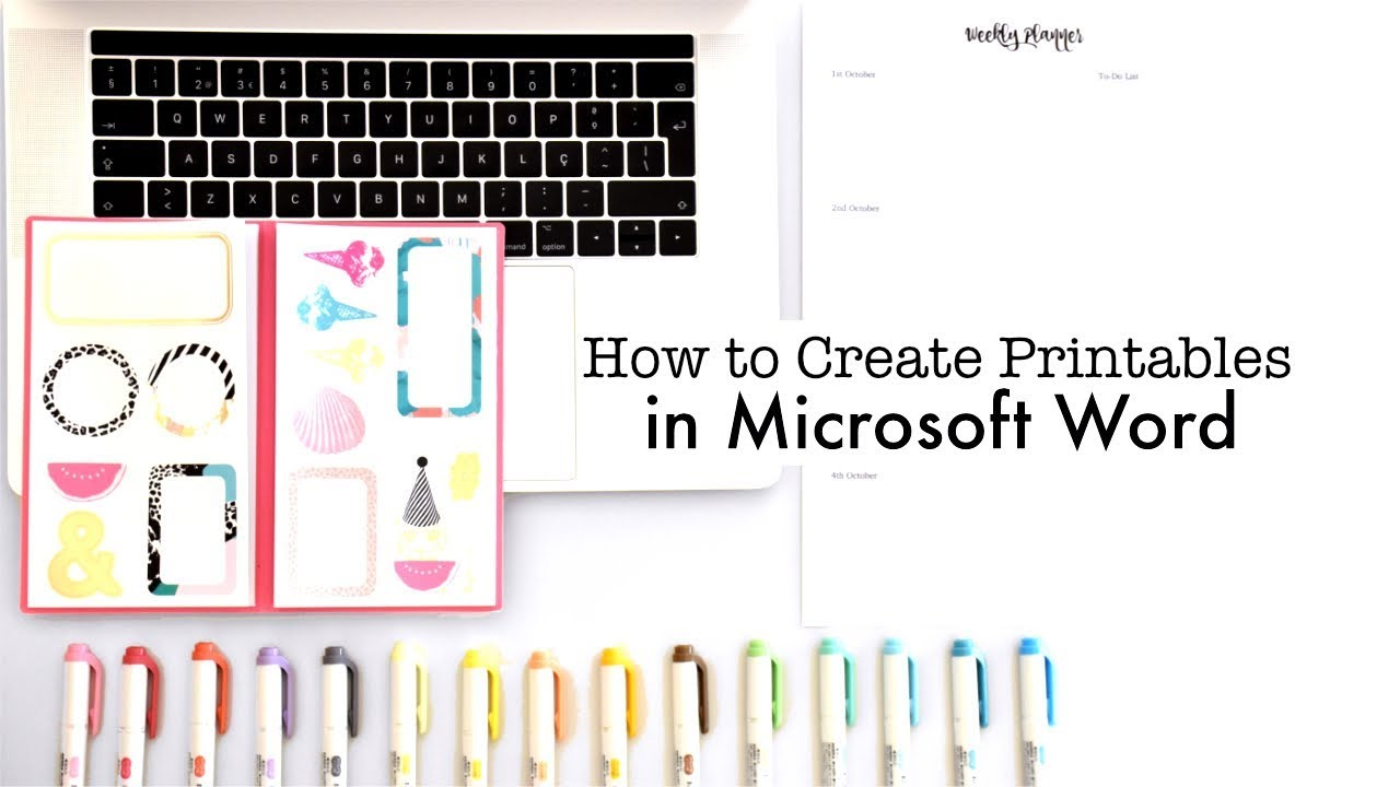 How I Create My Own Planner Printables In Microsoft Word Youtube