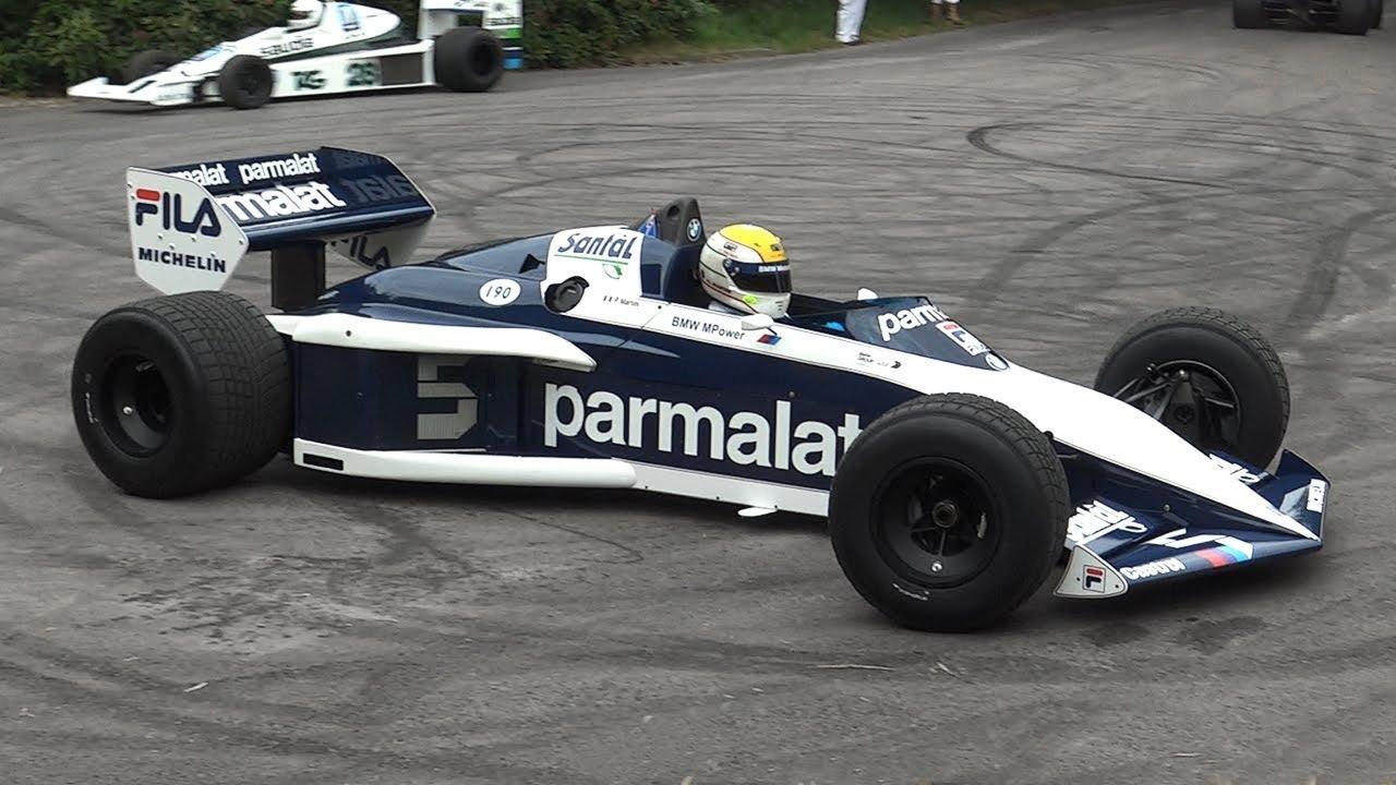 Brabham BT52 F1 Turbo in Action - BMW M12/13 1 5L 4-Cylinder Engine Sound!