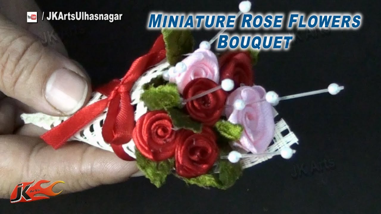 DIY Miniature Rose Flowers bouquet for Valentine\'s Rose Day | How to ...