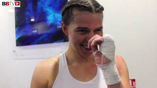 SAVANNAH MARSHALL: CELEBRATES HER KO IN BOLTON LAST NIGHT