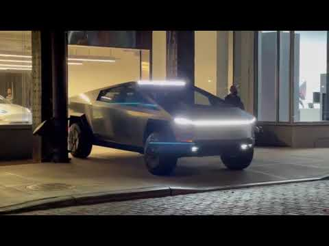 Tesla Cybertruck Prototype In New York 2021 Footage