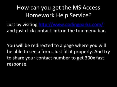Do my access homework
