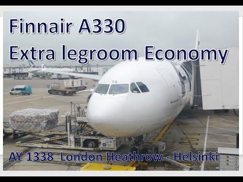 Finnair Extra legroom Economy -  AY 1338 Airbus A330 London Heathrow to Helsinki