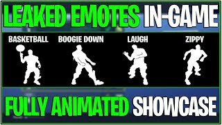 *NEW* Fortnite: LEAKED FULLY ANIMATED EMOTES IN-GAME! | (4 New Emotes Showcase)