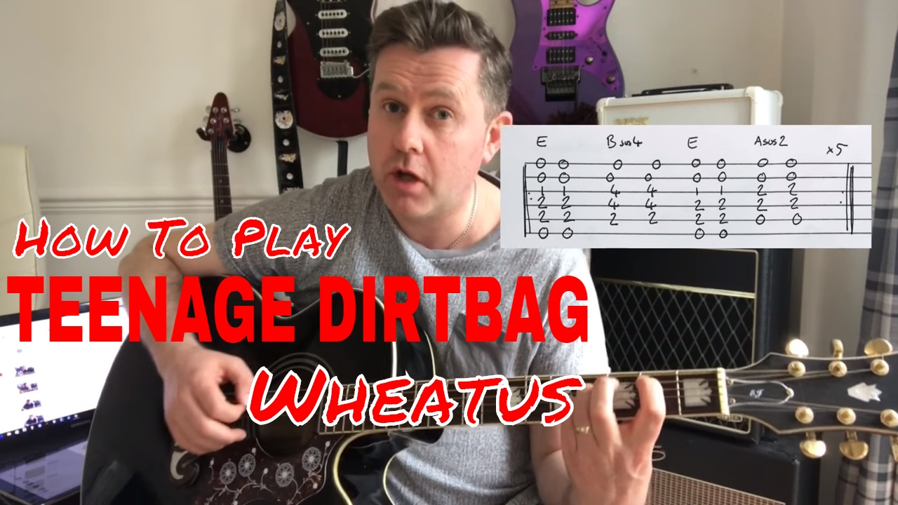 Wheatus teenage dirtbag guitar play along (guitar tab) youtube.