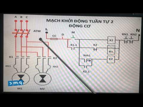 Cấu tạo và nguyên lý hoạt động của mạch khởi động tuần tự 2 động cơ_Kỹ thuật điện