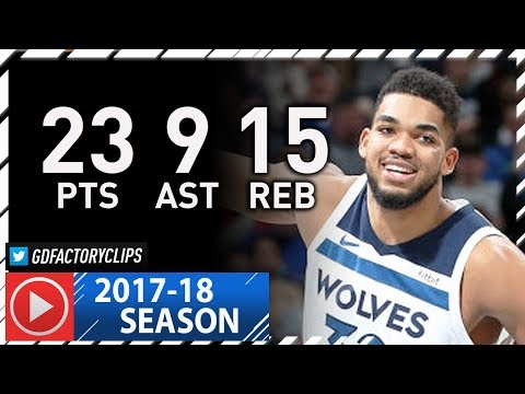 Karl-Anthony Towns Full Highlights vs Knicks (2018.01.12) - 23 Pts, 15 Reb, 9 Ast, BEAST!