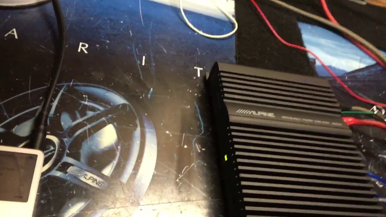 Alpine 3522s Amp Bench Test 9 8 16 Youtube Bridged Wiring Diagram