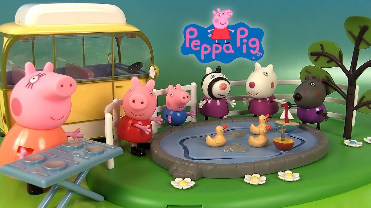 peppa pig camping car et parc de loisirs aire de jeux balan oire et canards youtube. Black Bedroom Furniture Sets. Home Design Ideas