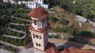Ο Άγιος Νεκτάριος της Αίγινας ΑΝΩΘΕΝ - Aerial Video by drone Dji Phantom 4