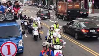 選戰倒數最後一哩路!韓國瑜市區掃街 車隊蔓延數公里