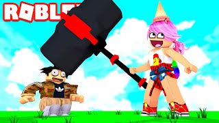 STARTING PEOPLE MIT SUPER MARTILLO IN ROBLOX! Ban Hammer Tycoon