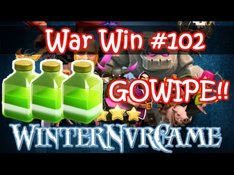 Clash of Clans - GOWIPE With 3 Jumps!! - Maxed Th9 3 Stars - Win #102 - 동영상