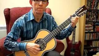 aria a19c parlor guitar