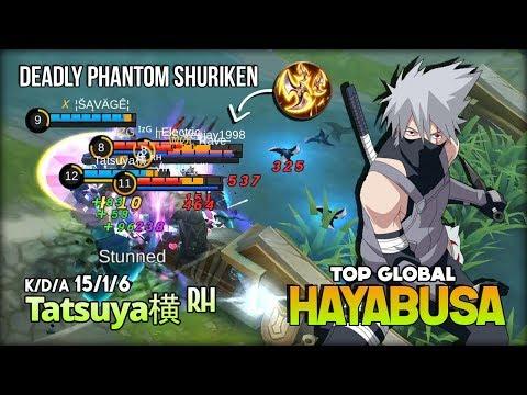 Hayabusa Powerfully Phantom Shuriken Damage! Tatsuya横 ᴿᴴ Top Global Hayabusa ~ Mobile Legends