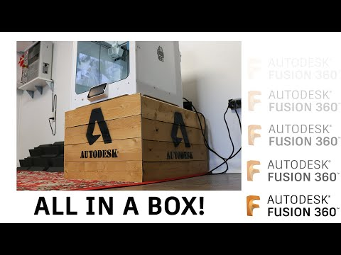Parameters, Joints, Layout Sketch & Glue — Everything in a Box — Fusion 360 thumbnail