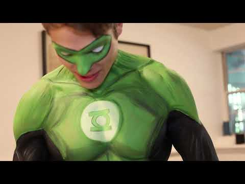 BODYPAINT Time Lapse - Green Lantern Vs Red Lantern