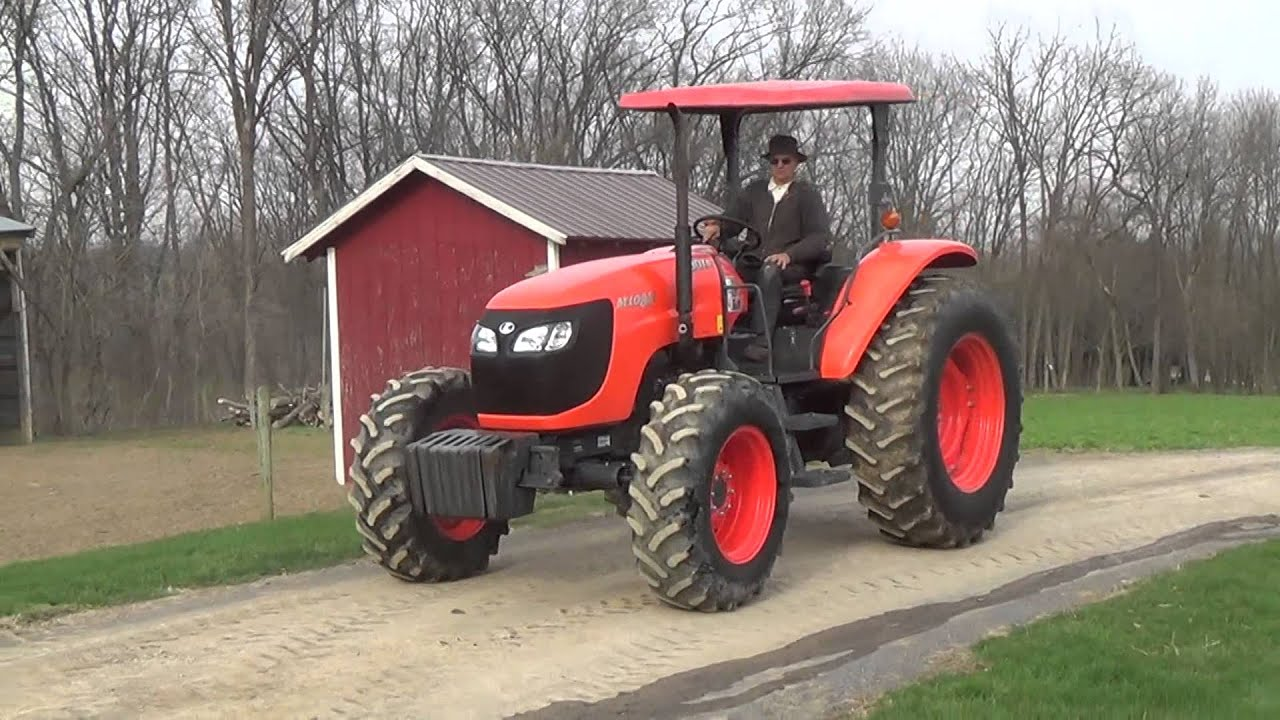 & 2013 KUBOTA M108S 4WD TRACTOR WITH CANOPY - YouTube