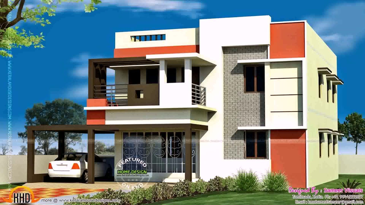 South indian house front elevation designs for ground Indian house front design photo