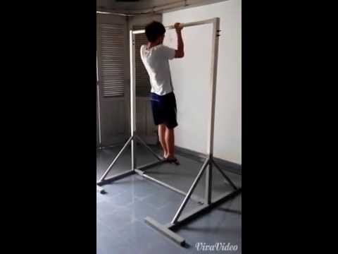 Free Standing Pull Up Bar Test Youtube