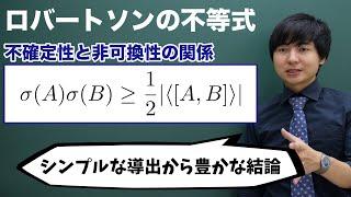 ロバートソンの不等式の導出(不確定性関係)