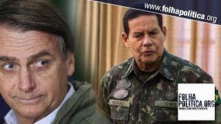 General Mourão agradece ao povo brasileiro após ser eleito com Bolsonaro e promete honrar a..