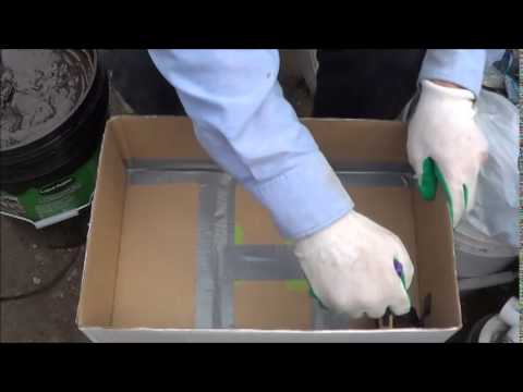 liquid rubber test 2 making a waterproof cardboard box youtube. Black Bedroom Furniture Sets. Home Design Ideas