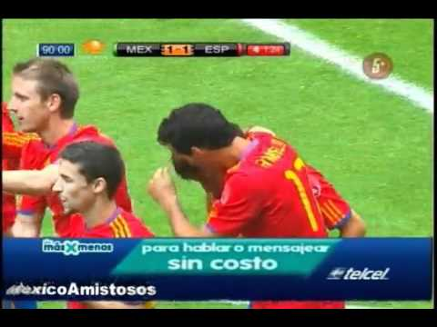 Gol David Silva Mexico vs España 1-1 [11 08 10] AMISTOSO Estadio Azteca.flv Videos De Viajes