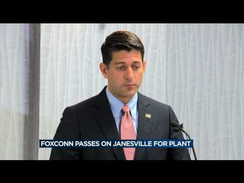 Paul Ryan says Foxconn could locate in his district