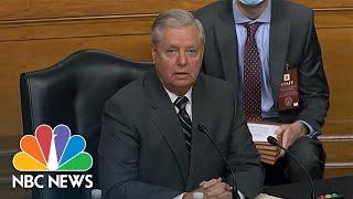 Graham Criticizes Senate Democrats For Boycotting Vote To Advance Amy Coney Barrett | NBC News NOW