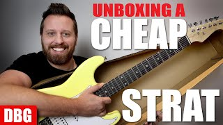 Unboxing a Super Cheap Strat...But Should You Buy One?