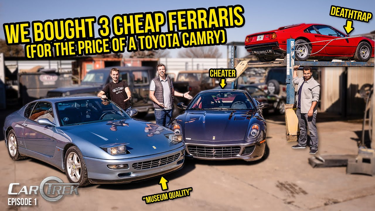 We Bought 3 Cheap Ferraris For The Price Of A Toyota Camry - Car Trek S4E1